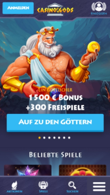 Casino Gods Mobile Casino